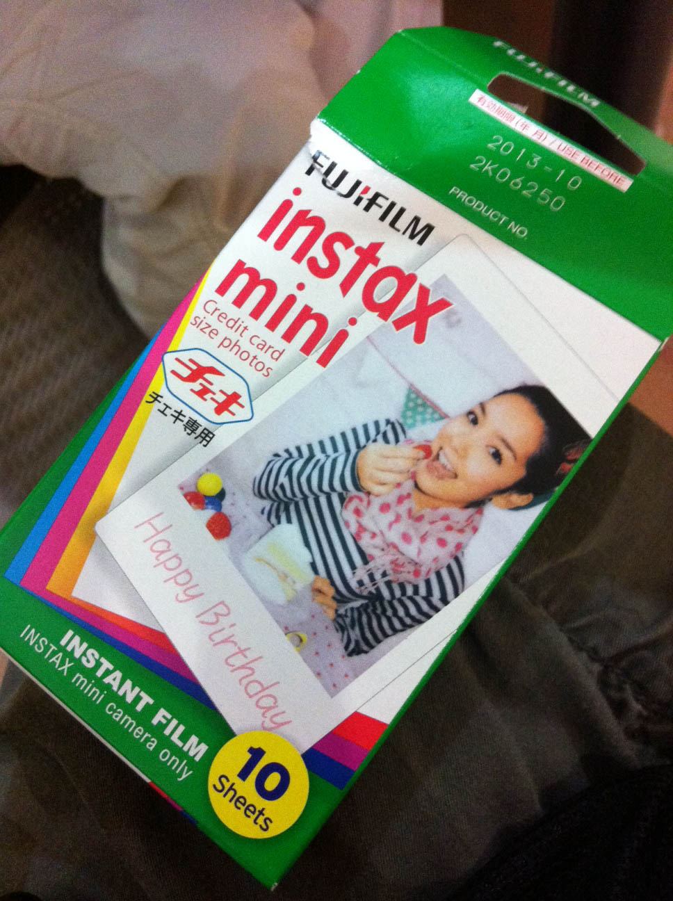 How to insert film cartridge into Instax Mini 50S